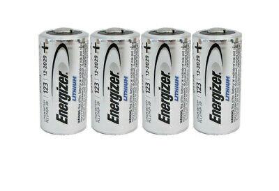 4 X ENERGIZER CR123A CR123 123A LITHIUM BATTERY EXP 12/2028