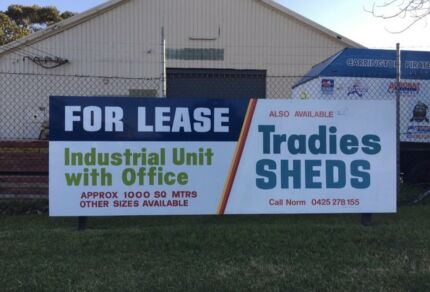 For lease - Industrial units and Tradies sheds
