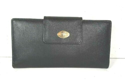 Koret Vintage Black Leather Clutch Wallet
