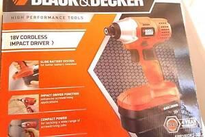 18V Cordless Impact Driver - Black & Decker (Brand New) Braddon North Canberra Preview