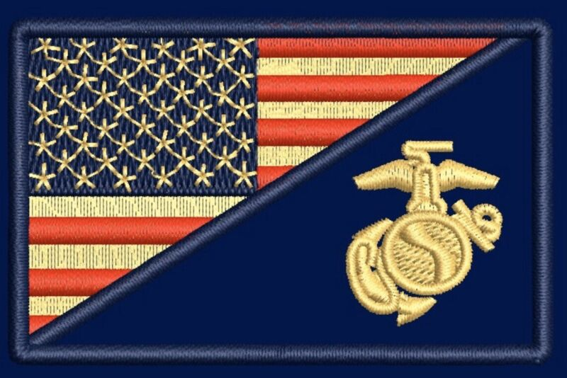 USA FLAG MARINE CORPS USMC NAVY VELCRO® BRAND Hook & Loop Patch Military