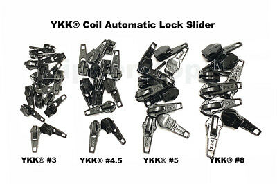 DEAL OF THE DAY YKK® #3, #4.5, #5 OR # 8 Coil Automatic Lock Slider made in - Deal Of The