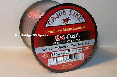 30/' FT FISHING LEADERS RED MONOFILAMENT LEADER LINE CAJUN RED LIGHTNIN