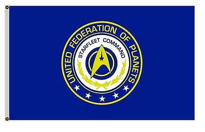 3 x 5 STARFLEET Command Flag Star Trek Voyager DS9 Solar Trump Polyester