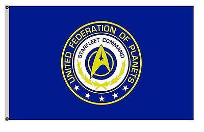 3 x 5 STARFLEET Command Flag Star Trek Voyager DS9 Solar Tru