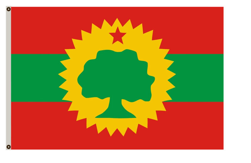 Large Flag Oromo Liberation Front OLF Flag 3x5ft banner