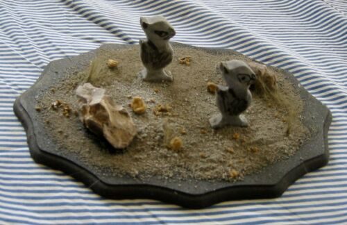 WOOD CARVING BASSWOOD PAINTED BIRDS DIORAMA
