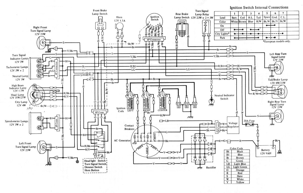 Kawasaki wiring diagrams for 1969 1972 h1 triples wiring diagrams kawasaki h1 500 triple parts list cd h1a h1b h1c h1d h1e h1f kh500 4 of asfbconference2016 Image collections
