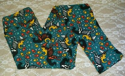 LulaRoe Halloween Leggings ~ Tween ~ SKELICORNS ~ Unicorn Skeletons ~ BNWT ~VHTF