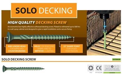 TIMCO PROFESSIONAL GREEN COATED DECKING SCREWS FOR LANDSCAPE FENCING 50mm & 60mm