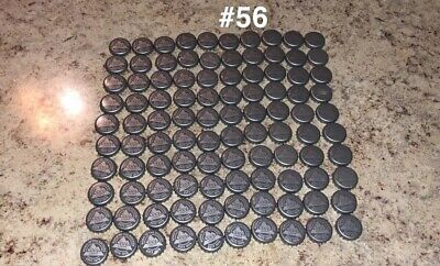 100 Lot Colors Retro Beer Bottle Caps Crowns~ New Design Silver Lot#56 ~NO (Retro Bottle Caps)