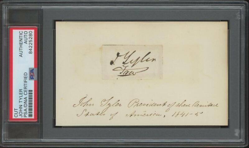 President JOHN TYLER (1790-1862) autograph cut | PSA/DNA certified signed