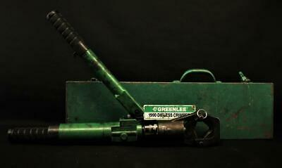 Greenlee 1990 Dieless Manual Hydraulic Crimper Crimping Tool In Factory Case