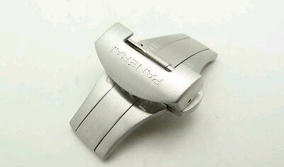 OEM Officine Panerai Polished Deployment Buckle for 22mm Strap New Factory Box
