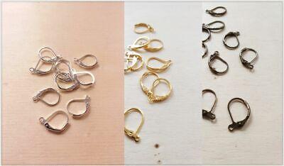 Brisuren Schmuckzubehör zur Herstellung von Ohrringen in Silber Gold + Bronze