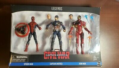 Marvel Legends Civil War Movie 3 Pack - Iron Man Captain America Spider-Man MCU