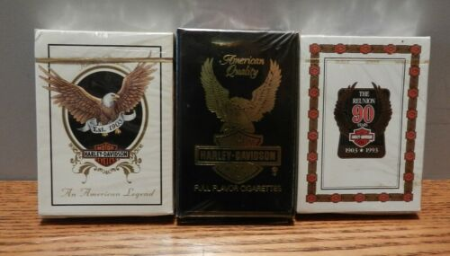 Harley Davidson Playing Cards Lot of 3 New In box - sealed