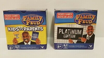 Family Trivia Games (Family Feud Trivia Game Lot: 2 Box Set Platinum Edition And Kids vs Parents)