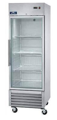 Arctic Air Agr23 23cf 1-door Commercial Stainless Glass-door Cooler Refrigerator