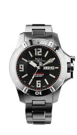 Gents Ball Engineer Hydrocarbon Spacemaster Watch Black Dial