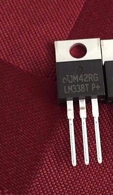 5x Lm338t Voltage Reg 1.2v To 32v To-220- 5a Lm317 Replacement
