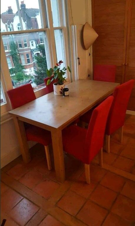 Solid Wood Extending Dining Table And 5 Chairs MUST GO
