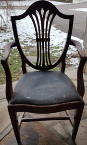 Antique solid wood chair - excellent condition