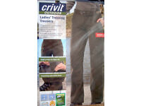 Hiking Trousers, size 10 - elasticated and water resistant £9