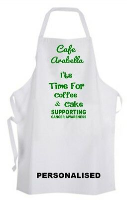 Personalised Apron Coffee Morning Cafe Eve  Coffee & Cake Donation to Macmillan