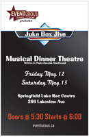 Mother's Day weekend musical dinner theatre ... JUKE BOX JIVE!!