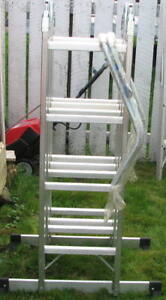 17 Foot Folding Metal Ladder Plus roof attachments