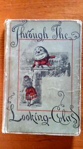 antique book 1887 Through the Looking Glass by Lewis Carroll London Ontario image 1