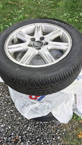 ALL SEASON TIRES ON RIMS FOR VOLVO S60 Peterborough Peterborough Area image 1