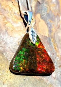 Alberta Ammolite Free Form Pendants With .925 Silver Only $149