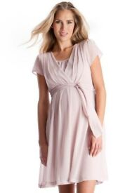 Maternity nursing chiffon dress size 12 new