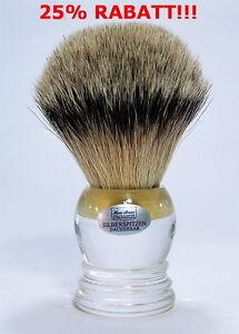 XXL-Pennello-da-barba-Hans-Baier-peli-di-tasso-punte-d-039-ARGENTO-26MM-GRANDE