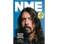 NME Magazine featuring Dave Grohl on the cover.