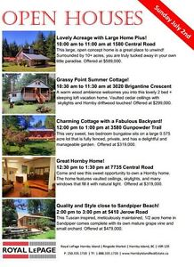 OPEN HOUSES THIS SUNDAY ON HORNBY ISLAND