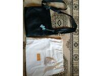 Radley black leather large cross body handbag bag purse