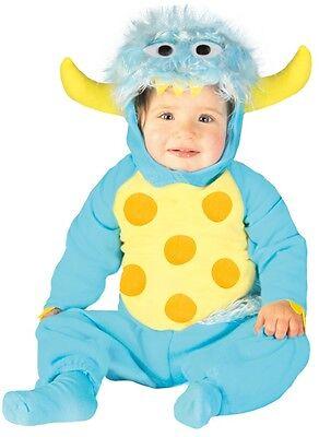 Baby Jungen Blau Gehörnt Monster Halloween Karneval Kostüm Kleid - Baby Jungen Monster Kostüm