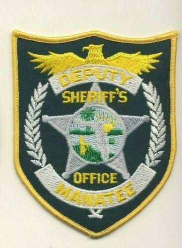"Manatee Deputy Sheriffs Office Florida FL 4.5"" Police Patch"