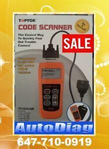 Toptak OBD2 Code Reader(OFF Engine Light+E-Test+Updateable)$135