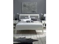 White King Size Bedstead
