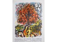 MARC CHAGALL - 'Saint famille' - original vintage exhibition poster - c1976 (Pace Columbus, Ohio)