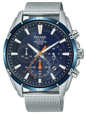 Pulsar Gents Solar Chronograph Watch - (Solar Gents Watch)