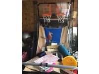 MD sports basketball arcade system with interactive scoreboard. £50 ONO