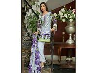 Gul Ahmed three lilac embroidered slik velvet unstitsched original
