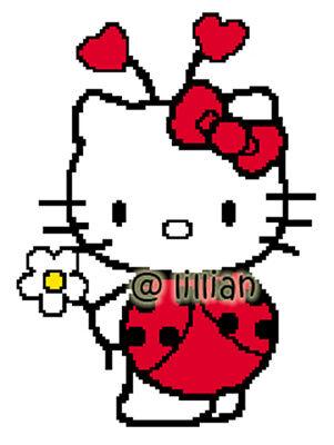 HELLO KITTY IN LADYBUG LADYBIRD COSTUME Cross Stitch - Hello Kitty In Costume