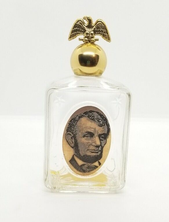 Vintage Avon Decanter Abraham Lincoln Leather After Shave Glass Empty President