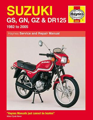 Haynes Manual 0888 - Suzuki GS125, GN125, GZ125 Marauder, DR125 (82 - 05)